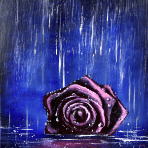 Rose in the Rain by Peter Dranitsin abstract painting3