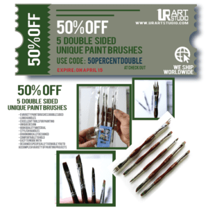 50 PERCENT OFF DOUBLE SIDED PAINT BRUSHES