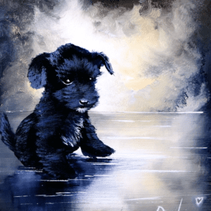 puppy painting