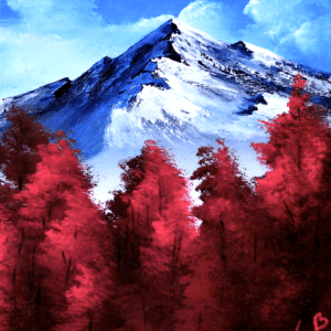 Mountain View acrylic painting by peter dranitsin