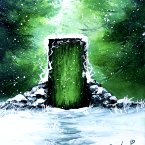 door to summer, acrylic painting, abstract art, easy for beginners, by Dranitsin 02