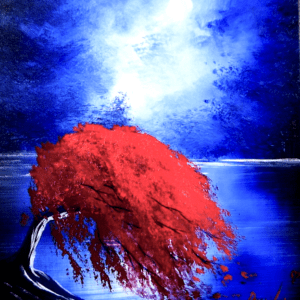 red tree in wind painting tutorial