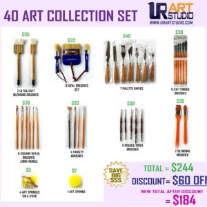 40 art collection set