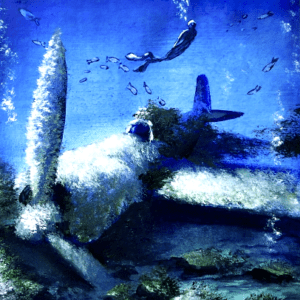 Plane Underwater Acrylic Painting Techniques by Dranitsin Peter