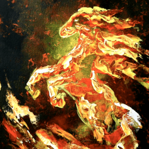 FIRE HORSE   EXCLUSIVE   EASY PALETTE KNIFE TECHNIQUES for BEGINNERS 03