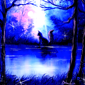 Fox in a Magical Landscape   Easy and Fun Acrylic Painting for Beginners 01