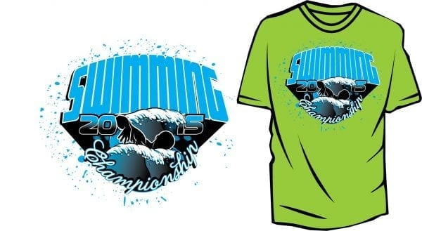 SWIMMING VECTOR DESIGN DOWNLOAD FOR TSHIRT APPAREL 2015