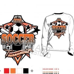 Soccer tournament tshirt vector design and background