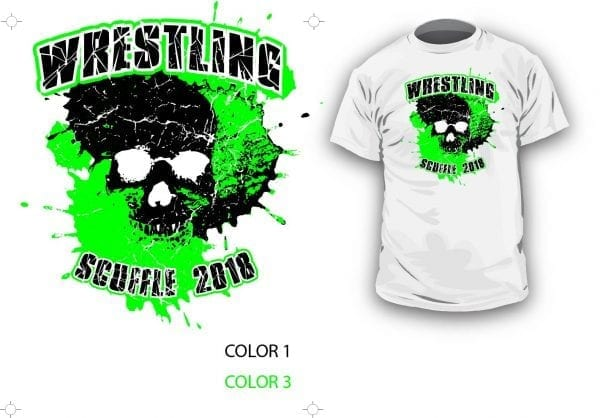DOWNLOAD VECTOR 2018 WRESTLING SCUFFLE LOGO LAYERED